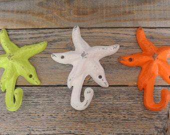 Cast Iron Starfish Hook Set