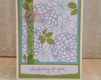 Thinking of You Card, Note Card, Any Occasion Card