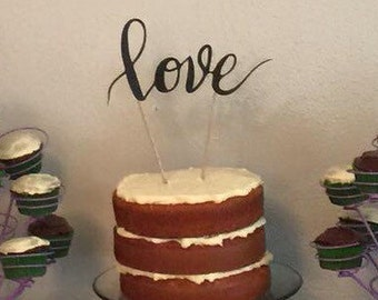 Love cake topper, custom toppers available