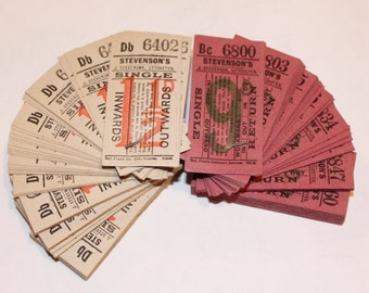 Vintage Bus Tickets. 100. UK. Free UK Postage!
