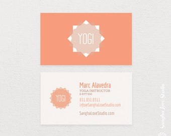Salute the Sun Yoga Business Card or Wellness Yoga Business Card
