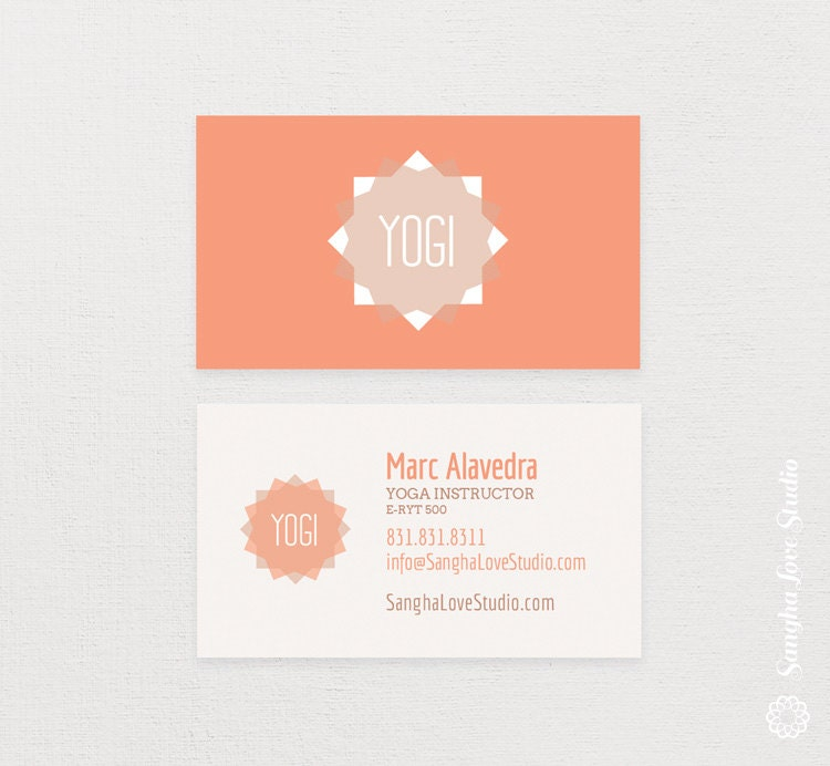 Business Cards Yoga Teachers Choice Image - Card Design And Card ...