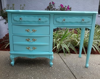 Sold!! Beautiful Aqua French Provincial Desk