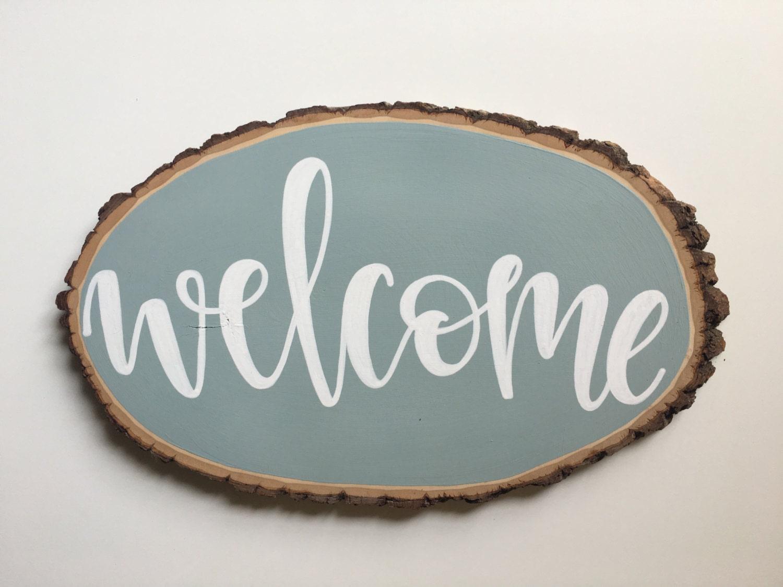 Design Your Own Home Nebraska Vintage Blue Chalkboard Wood Sign Welcome Sign Hand Painted