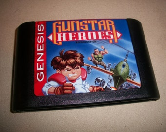 Gunstar Gun Star Heroes Sega Genesis Reproduction Game
