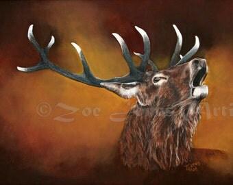 Deer/Elk Totem Print