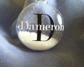 Set of 4 Personalized Ornaments