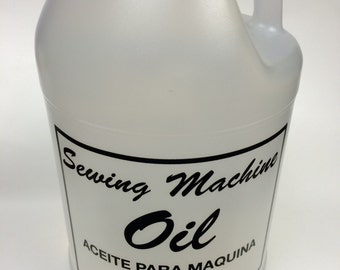 1 Gallon CLEAR WHITE Industrial& Home Sewing Machine Oil