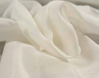 Fluffy White Cotton Silk