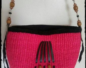SALE!!! Pink handwoven Bag