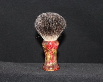 Custom Made 22mm Shaving Brush (Handle Only) Red and Bronze