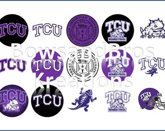 Texas Christian University (TCU) Bottle Cap Images