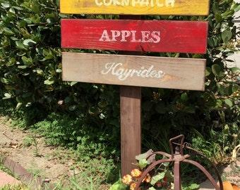 Harvest yard sign