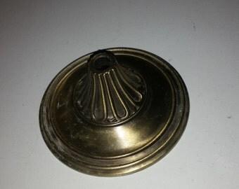 vintage cast steel ornate metal lamp base for repurpose
