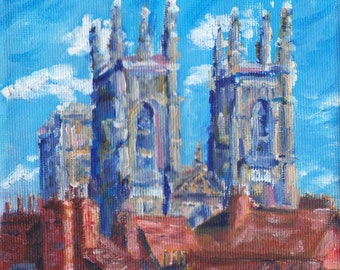 York Minster, oil painting