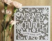 Papercut Wedding Card