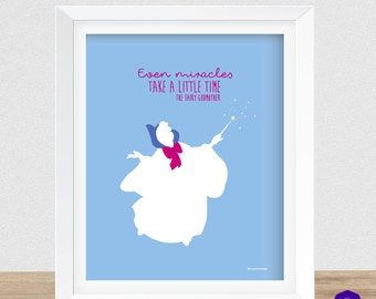 Cinderella's Fairy Godmother Wall Art Printable - The Fairy Godmother Quote Wall Decor