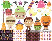 80%OFF - Halloween Clipart, Halloween Graphics, COMMERCIAL USE, Halloween Party, Planner Accessories, Candy Corn Graphic, Pumpkin