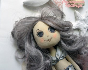 Doll textile mermaid
