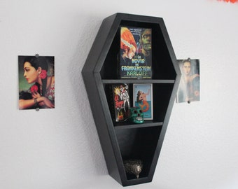 Gothic Coffin Shelf 20 inch with Wall Hanger