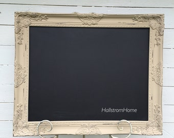 Large Chalkboard Wedding Chalkboard Ornate Chalk Board Baroque Chalkboard Menu Bridal Sign Seating Chart Wood Frame Nursery Wall Decor