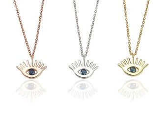 Egyptian Eye Necklace 925 / Sterling Silver