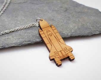 Space Shuttle Necklace | Laser Cut Space & Science Jewellery