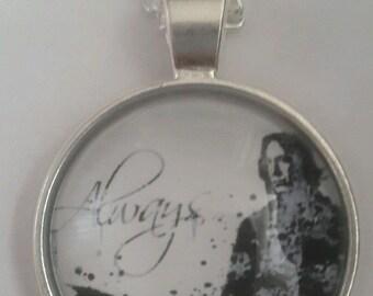 "Proffessor Severus Snape Alan Rickman ""ALWAYS"" Quote pendant necklace silver"