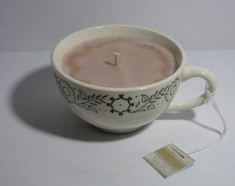 Chocolate teacup candle