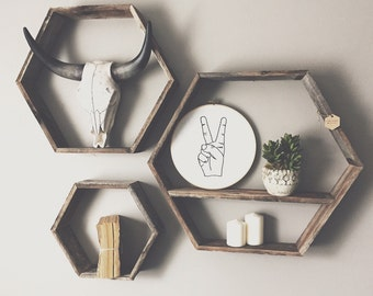 Reclaimed Wood Hexagon