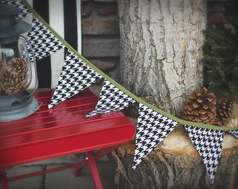 Houndstooth Banner, Bunting, Fabric Banner, Photography Prop