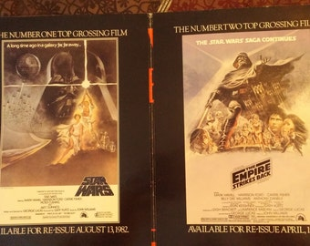 Revenge of the Jedi Star Wars Original Movie Poster Insert 1982