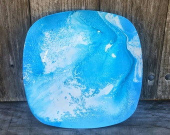 Hydro Dipped Decorative Plate, Art, Modern Art, Decor Plate, Home Decor, Wall Decor, Gift for Her, Gift for Him, Personalized Gift