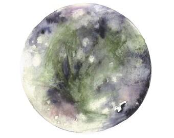 Watercolour Print Ganymede Moon