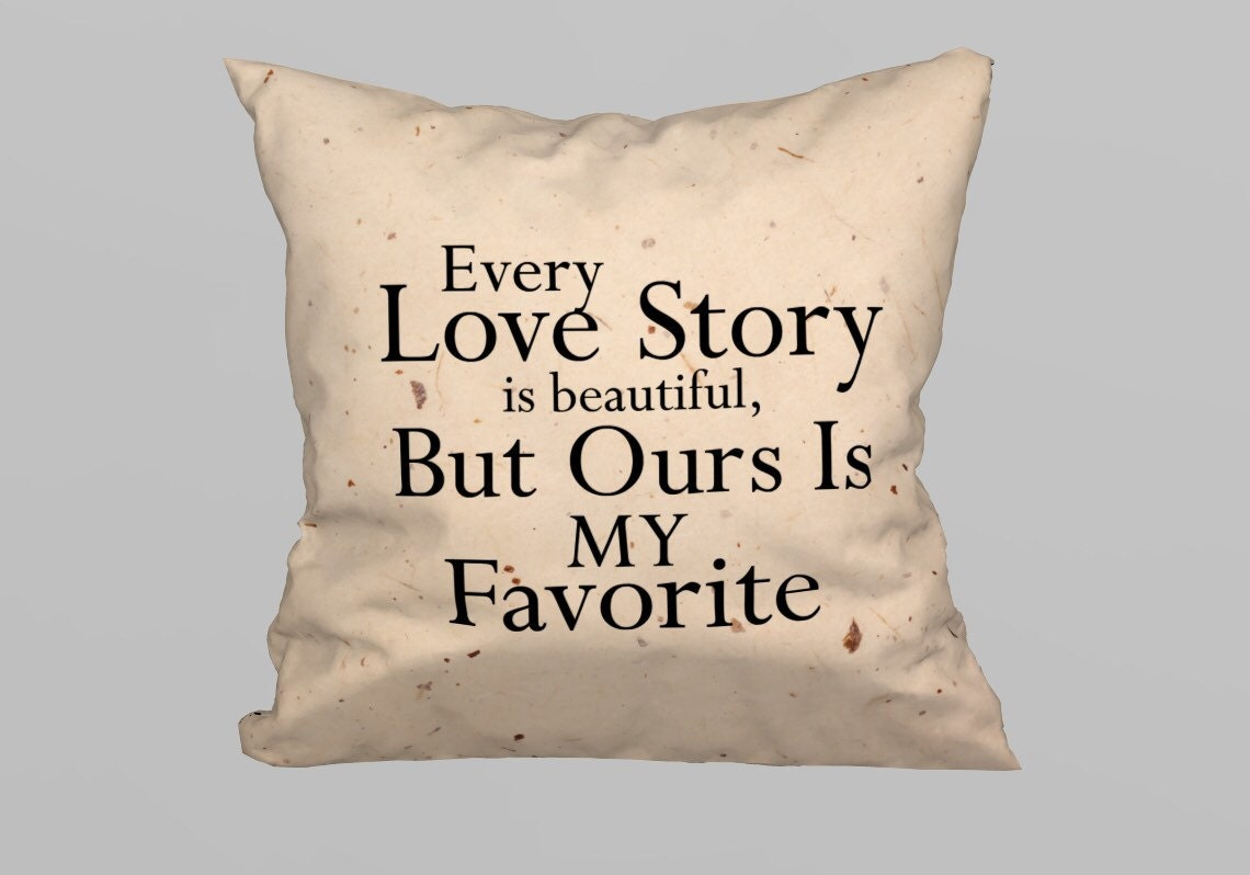 love story decorative pillow 45x45cm With Filling by magicdallas