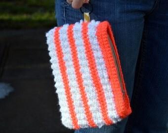 Crochet Wristlet/Clutch Purse - Zipper Pouch