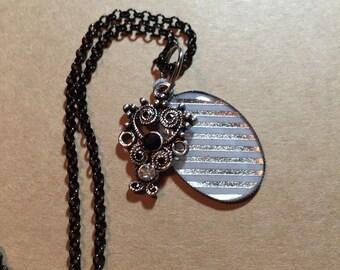 Silver Stripe Necklace