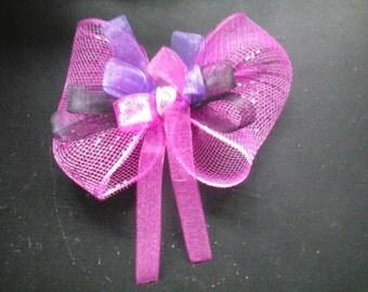 Jumbo Pink, Purple & Black Hair Bow
