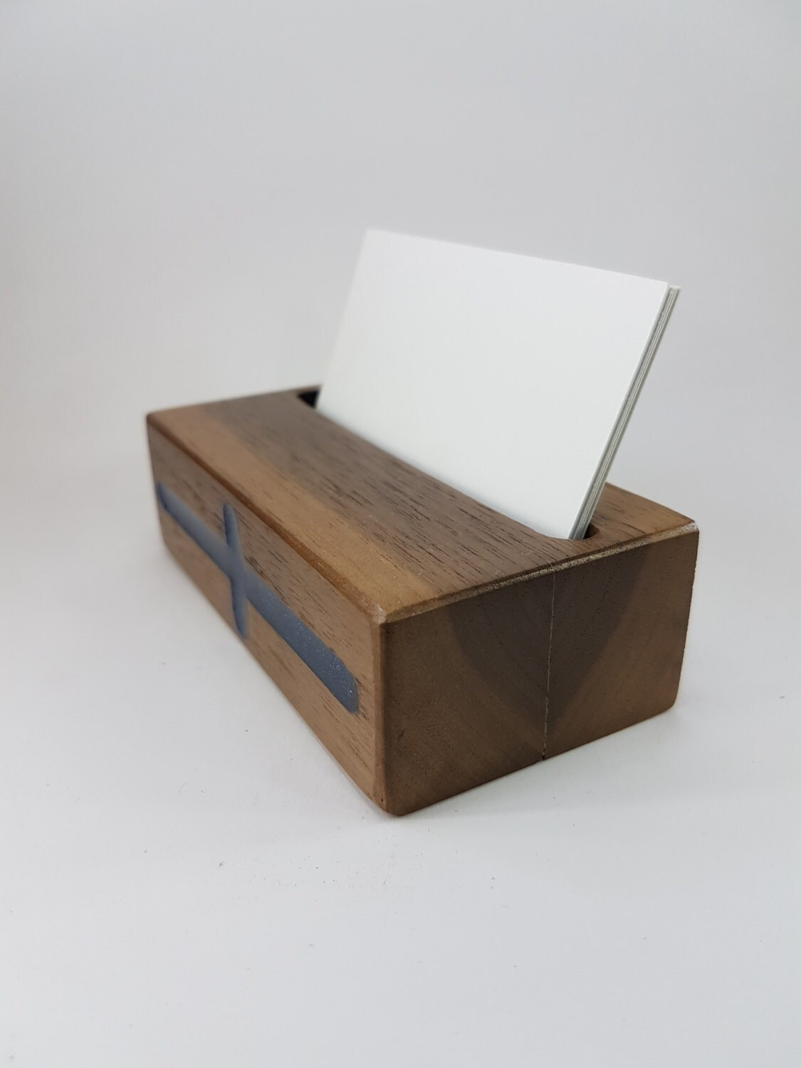 Amazing 10 X Wood Business Card Holder From Oak - Magowood