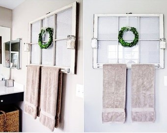 Bathroom Wood Antique White Frame Wood Window Frame 6 Pane Vintage Bathroom Mirror Or