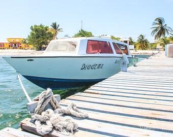 Diadema, Belize Boat Photography, Turneffe Atoll, Caribbean Island & Beach Photography, Travel Photography, Coastal Lifestyle Wall Art