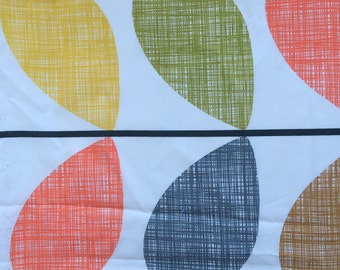 Orla Kiely fabric | leaves print | multi color | SHIPPING INCLUDED