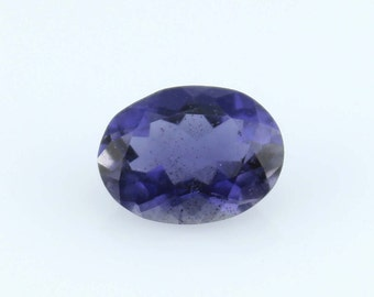 1.29 Cts. Natural Iolite Oval violet Loose gemstone  for jewelry