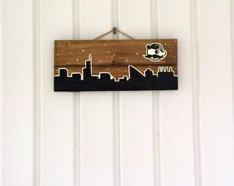 Baltimore Skyline Boh Wooden Sign