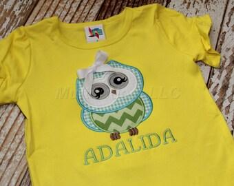 Girl Owl Applique Shirt