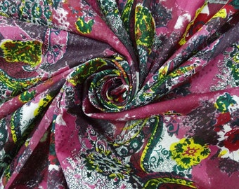 "Decorative Dressmaking Fabric Apparel Fabric Material 43""Width Cotton Fabric Quilt Floral Print Pink Apparel Drape Dress 1 Yd ZBC4377"