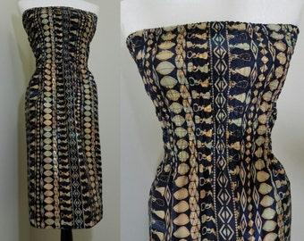 Strapless sundress, summer dress ethnic / tribal print african