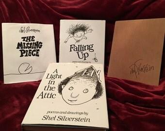 Set of 4 Shel Silverstein books, dates range from 1974-1996
