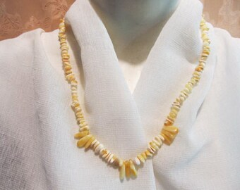 100% Natural Baltic #Amber #Necklace  14.2 gr. polished #white #yellow egg yolk butterscotch adult teens healing medical