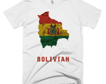 The Bolivian Flag T-Shirt (mens fitted)